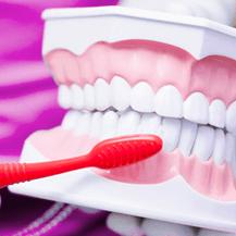 Image of teeth being brushed